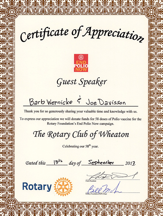 Community support christmas sharing christmas sharing board members spoke at a rotary luncheon on september 13 2017 and gratefully received a certificate of appreciation with the promise of a yadclub Choice Image
